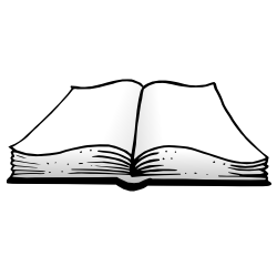 Png black and white. Open book clip art light