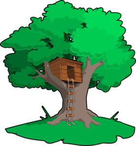 Tree house i m. Open book clip art magic