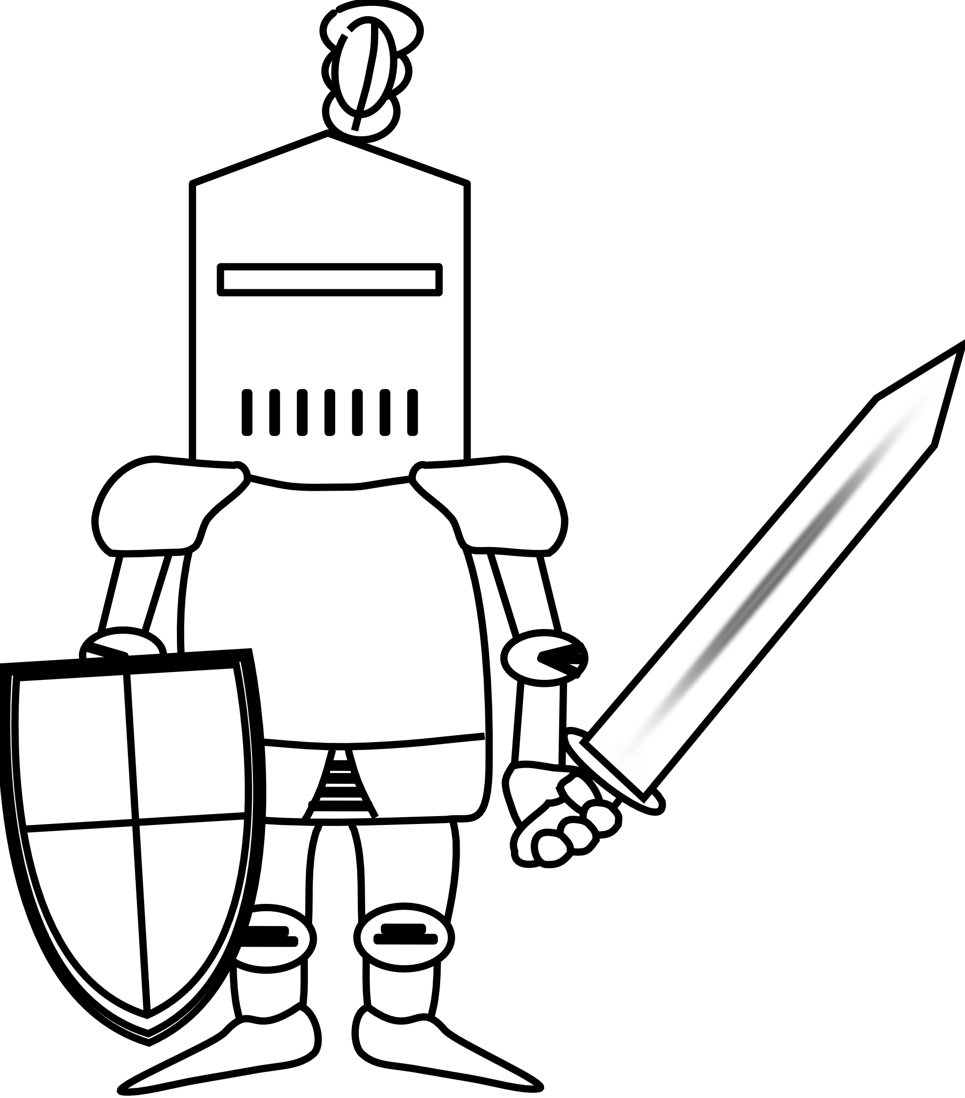 Ritter knight black white. Knights clipart cool