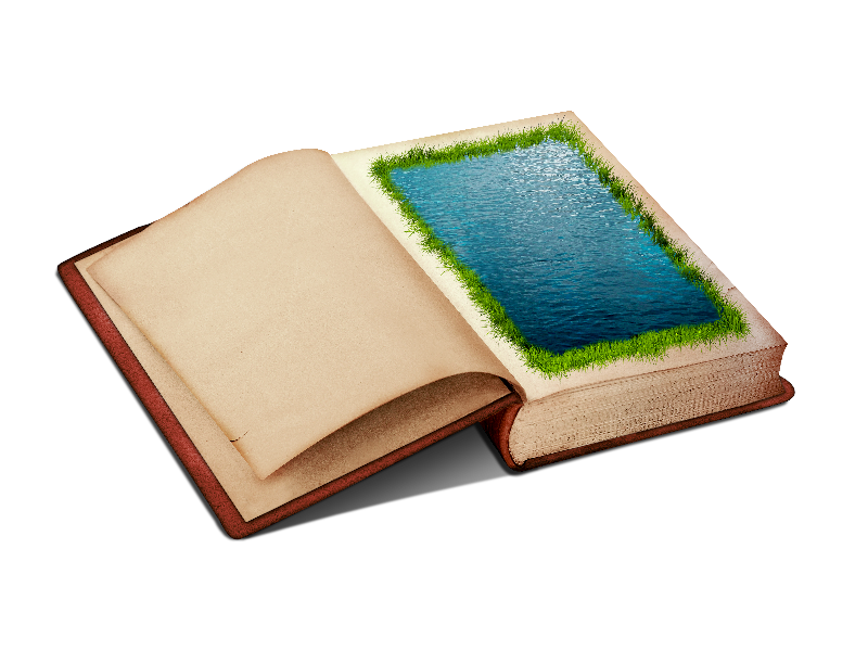 Png clipart with water. Open book clip art medieval