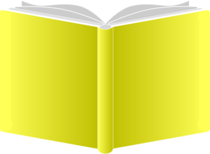 Open book clip art public domain. Openbook yello covers round
