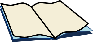 At clker com vector. Open book clip art public domain