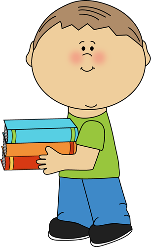 Images little boy carrying. Open book clip art school