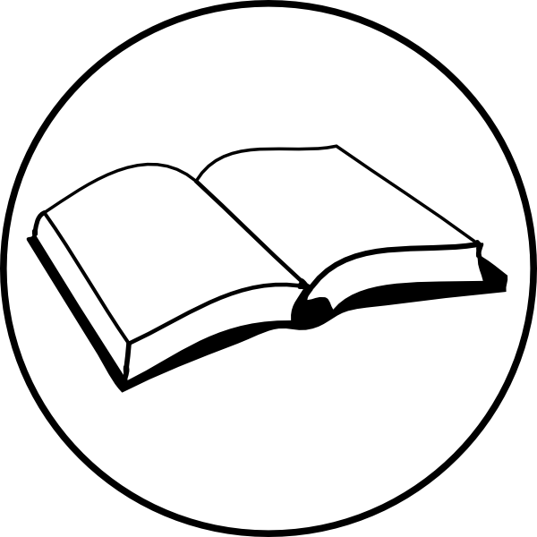Open Book Badge Clip Art at Clker