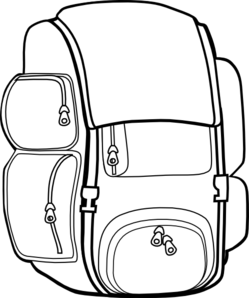 Open book clip art sketch. Backpack drawing at getdrawings