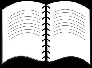 open book clip art sketch