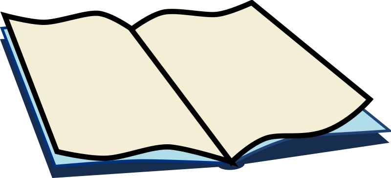 Open Book Clipart Transparent Background