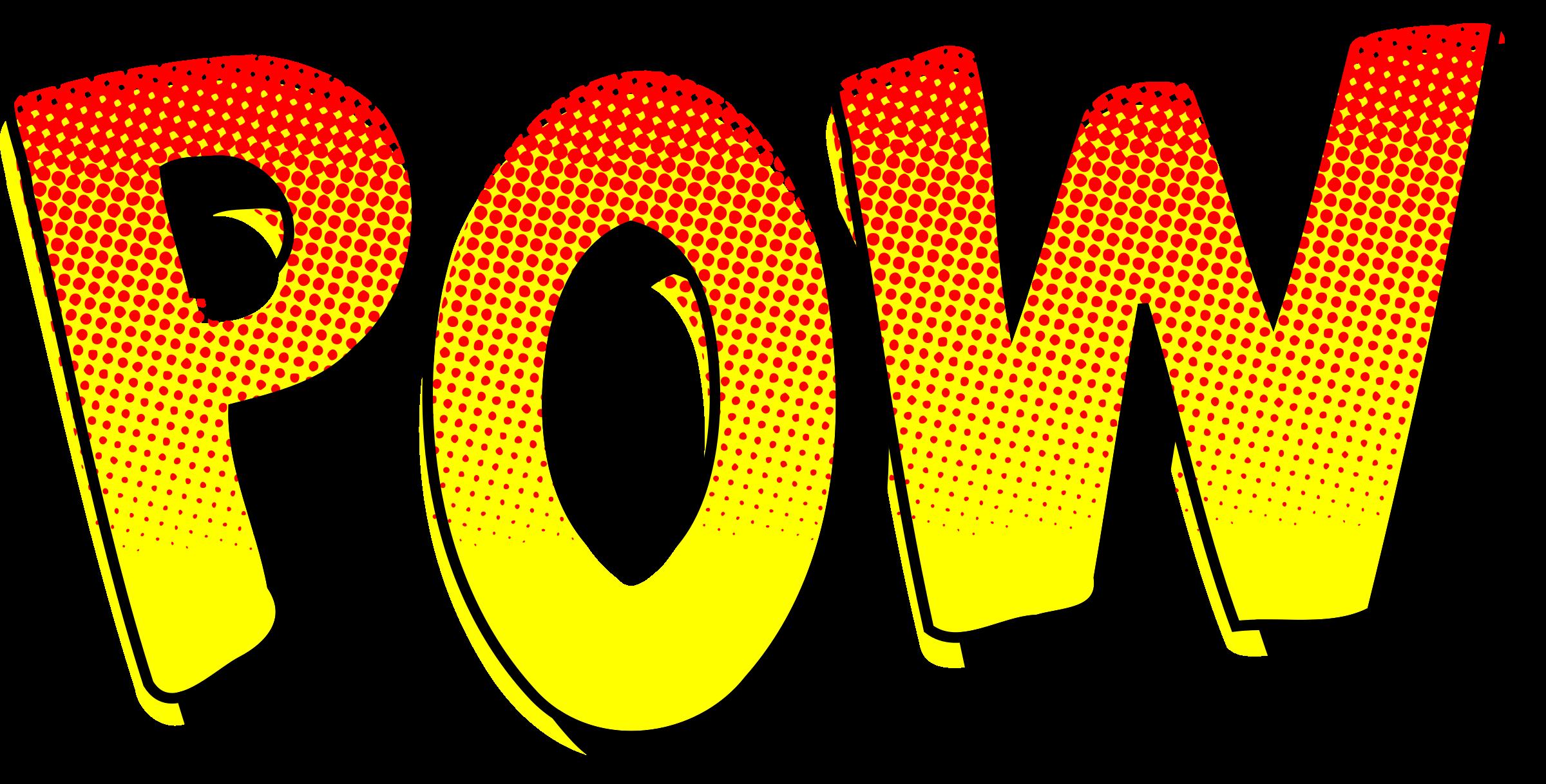 Clipart pow comic sound. Open book clip art vintage
