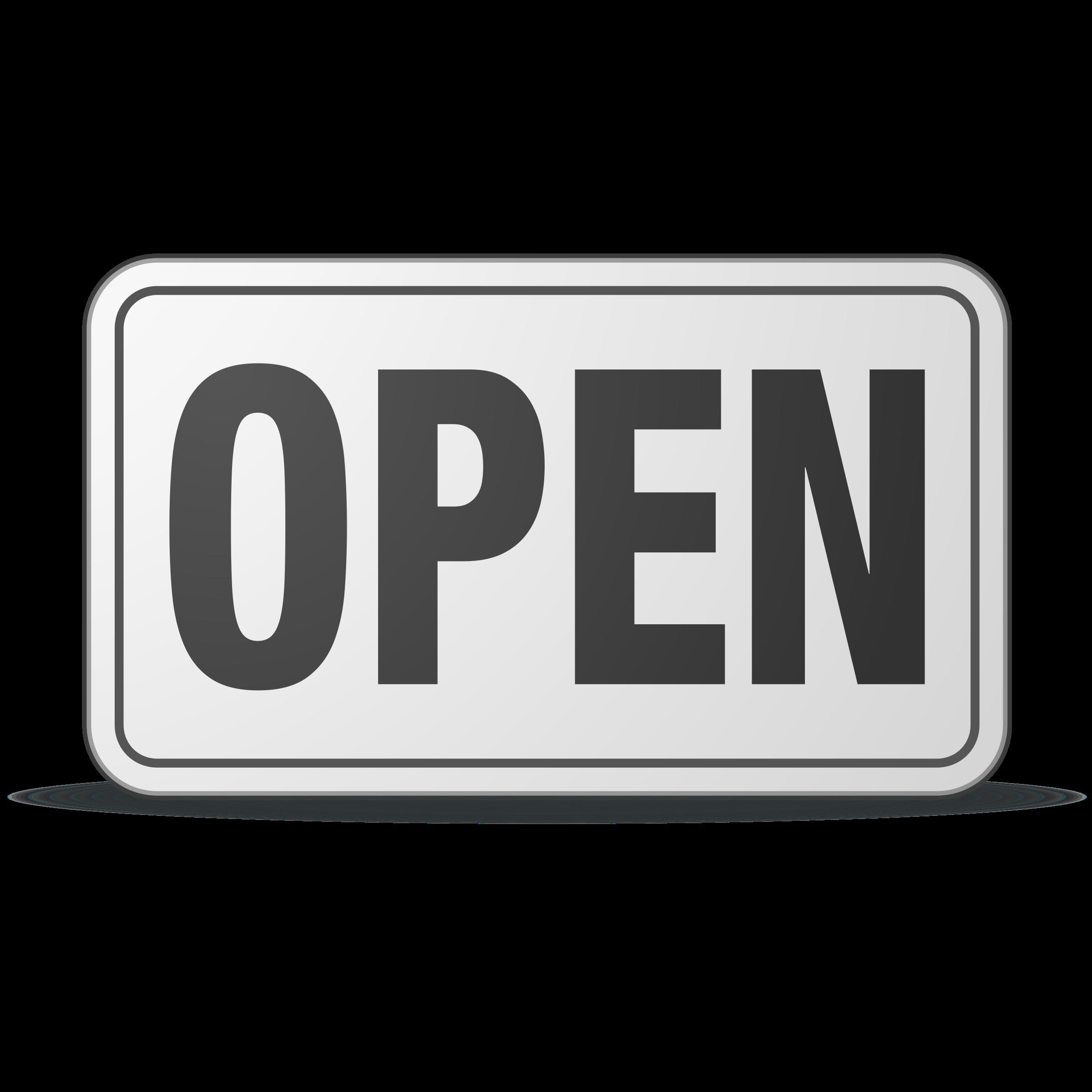 Open clipart. Sign plastic big image