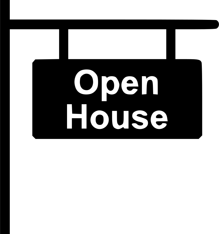 Open house png. Sign svg icon free