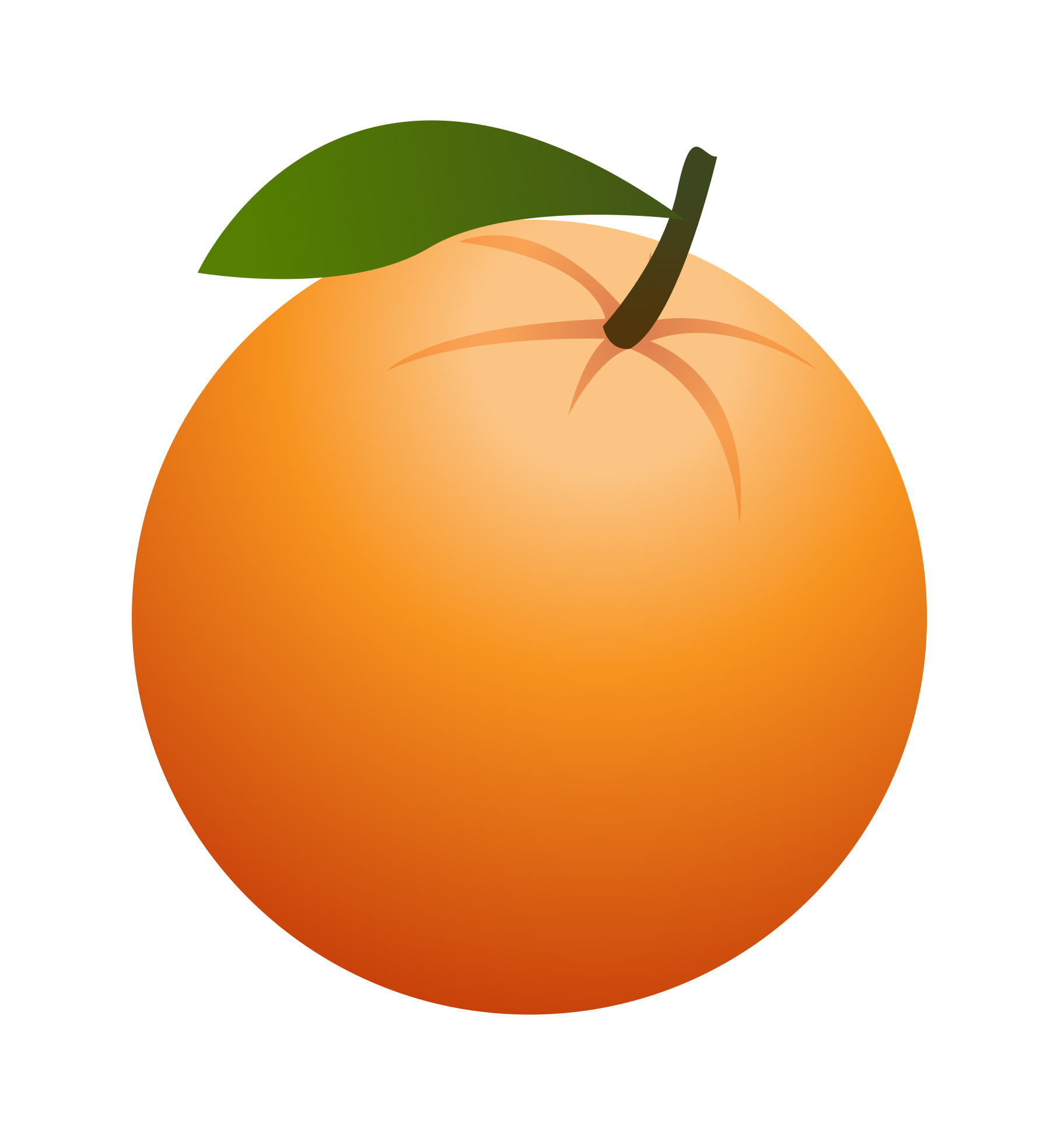 Fruit free . Orange clipart