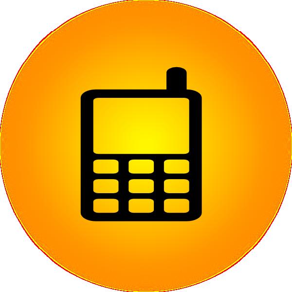Phone clipart orange. Mobile icon clip art