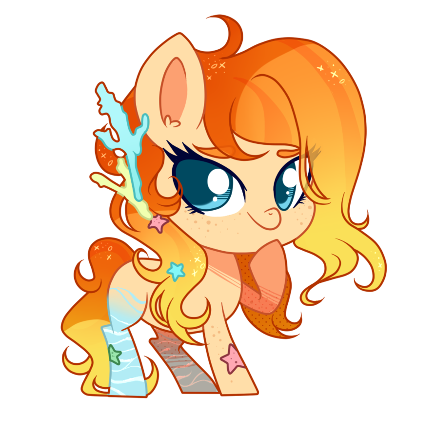 Chibi commission by hikariviny. Orange clipart coral reef