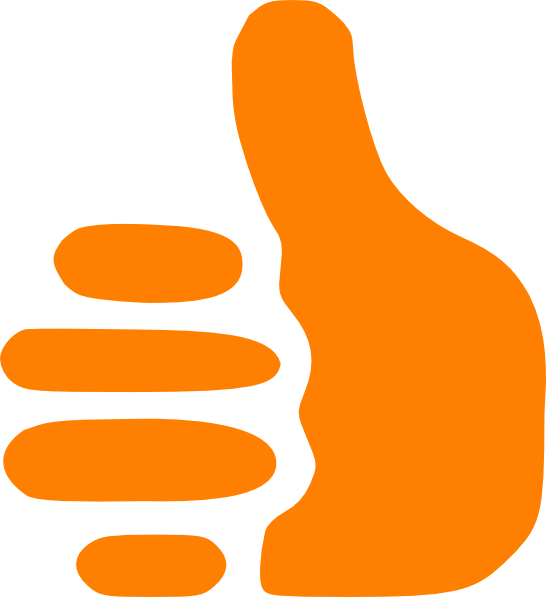 Thumbs up clip art. Thumb clipart orange