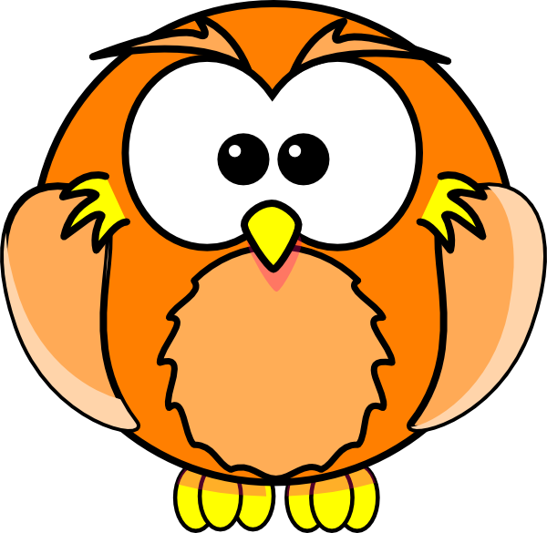 Clip art at clker. Orange clipart owl