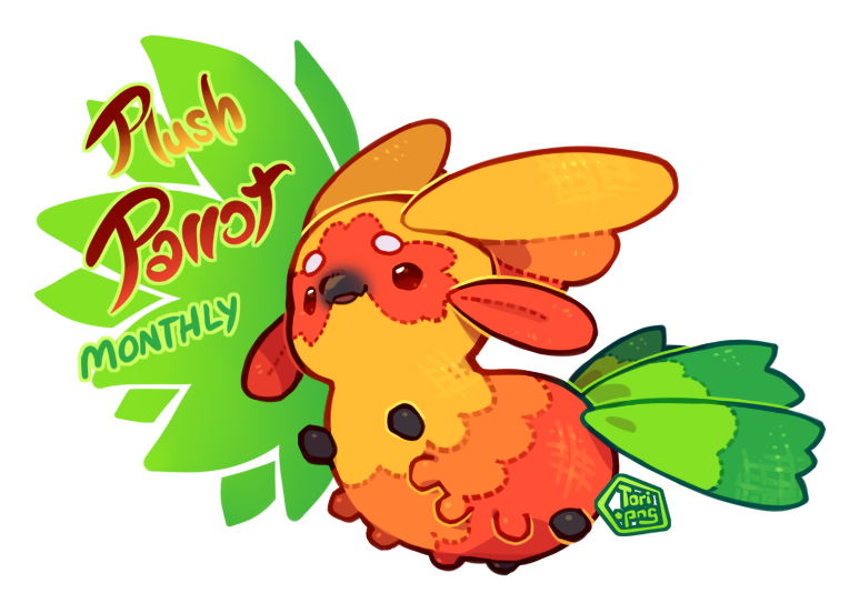 Closed paca monthly plush. Parrot clipart mask