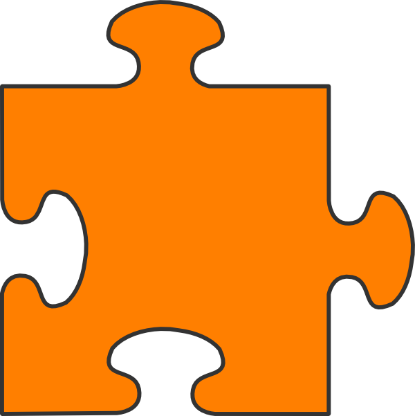 Puzzle clipart yellow. Orange piece clip art