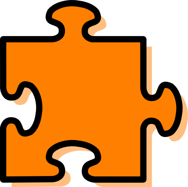 Puzzle clipart orange. Jigsaw piece clip art