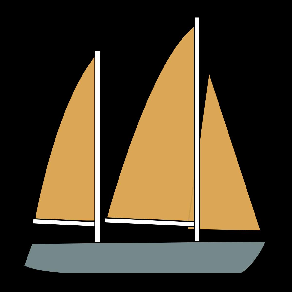 Ketch wikipedia . Orange clipart sailboat