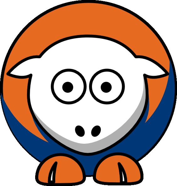 Edmonton oilers team colors. Sheep clipart orange