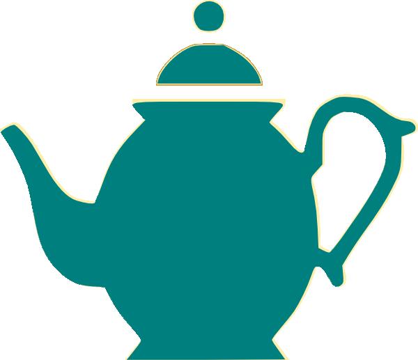 Clip art at clker. Orange clipart teapot