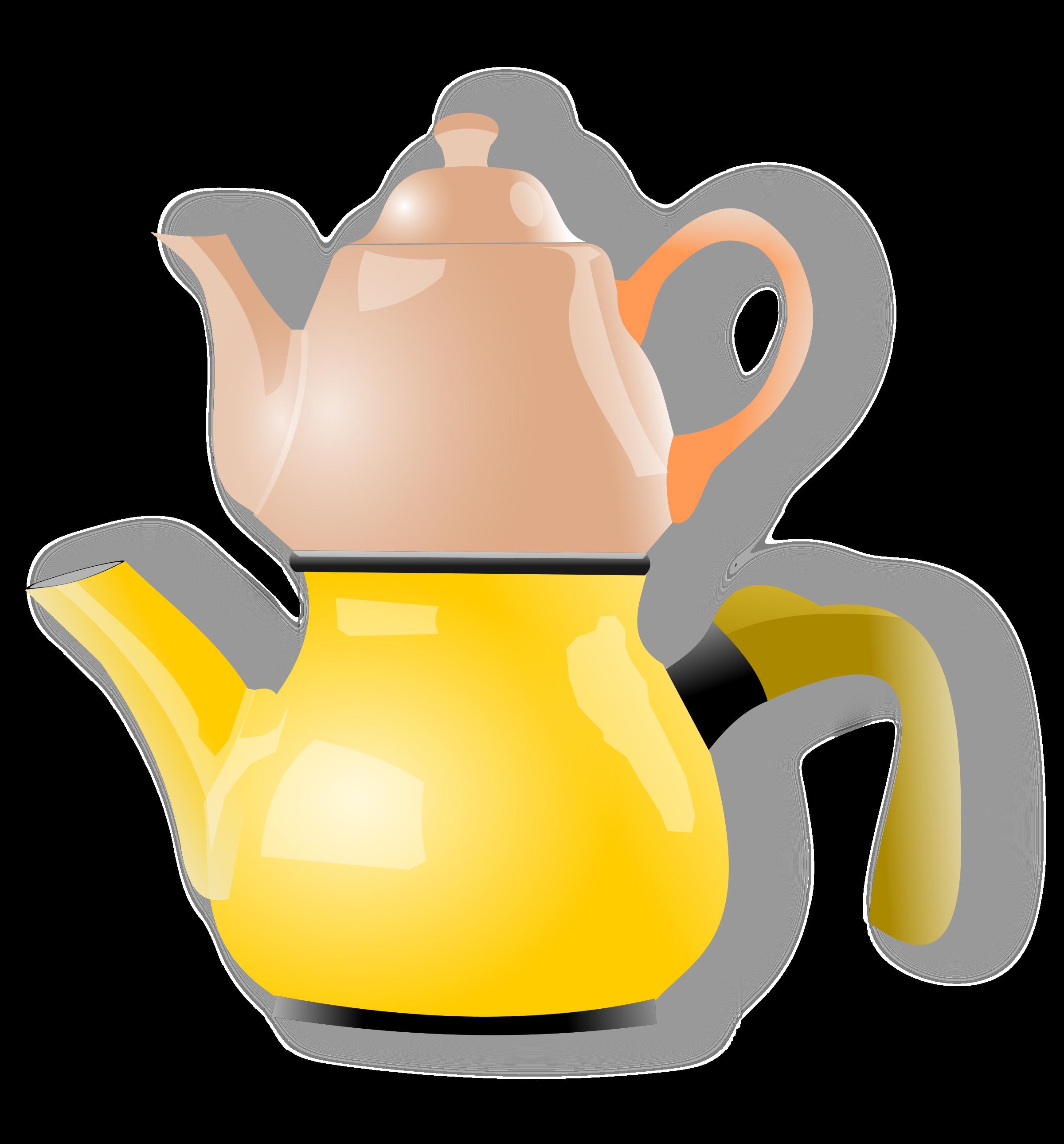 Orange clipart teapot. Shiny big image png