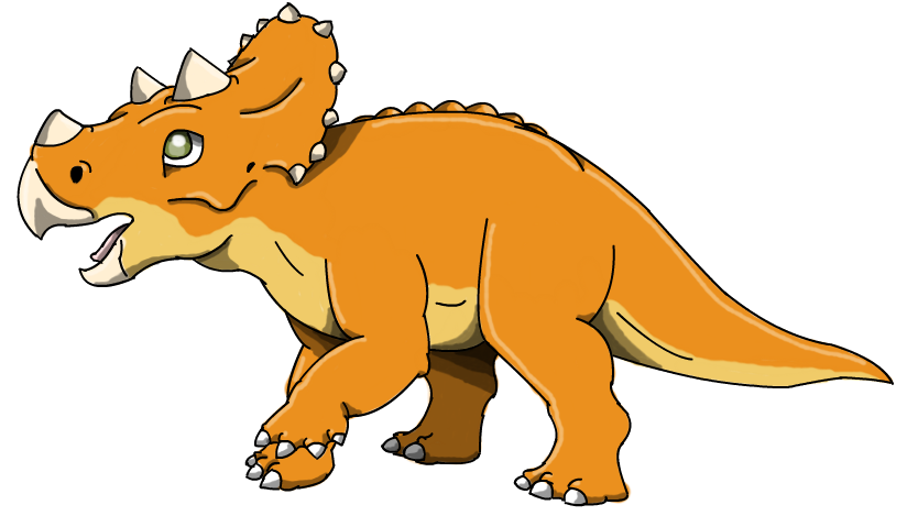 The land before time. Orange clipart triceratops