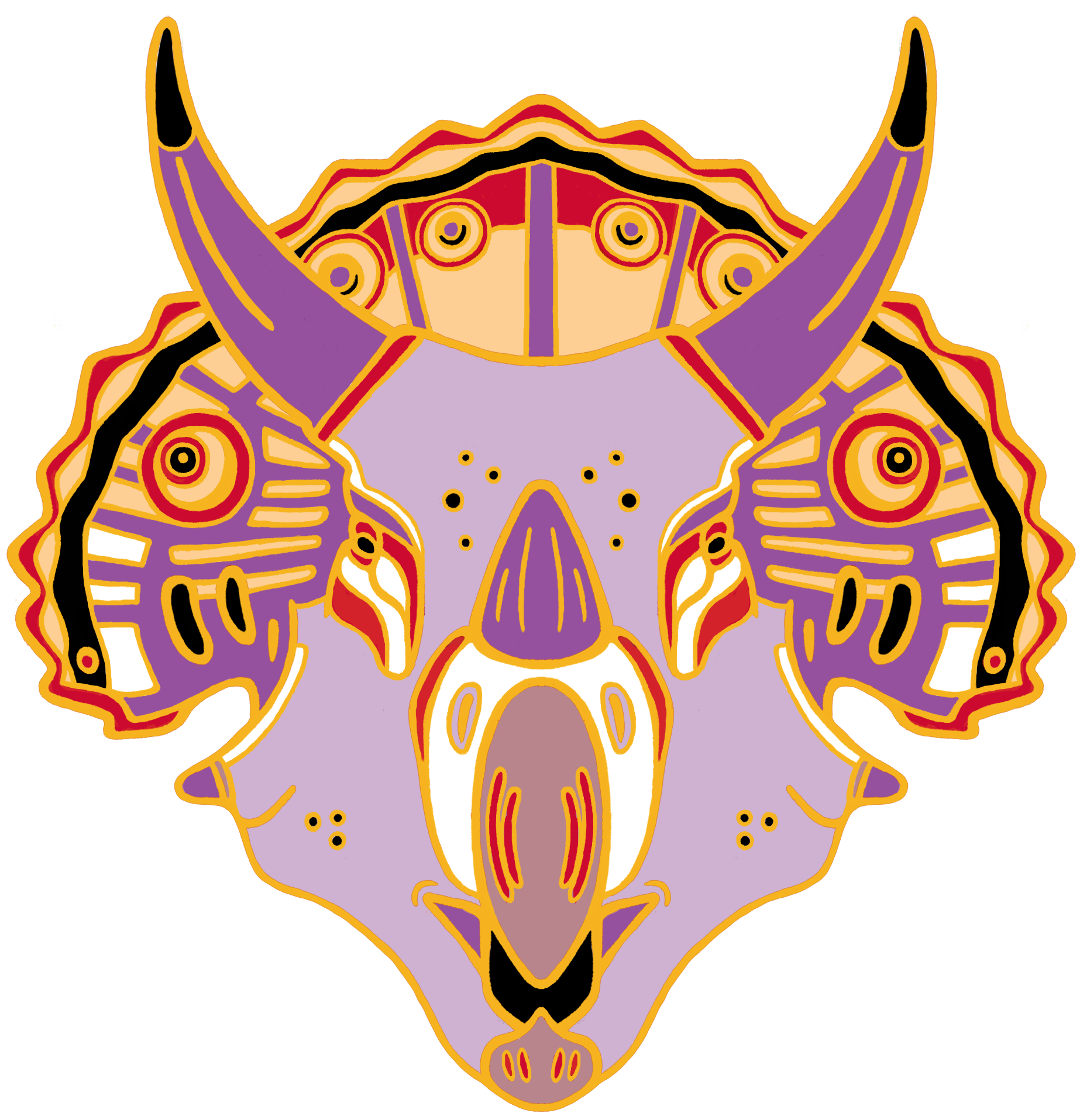 Pin greer stothers online. Orange clipart triceratops