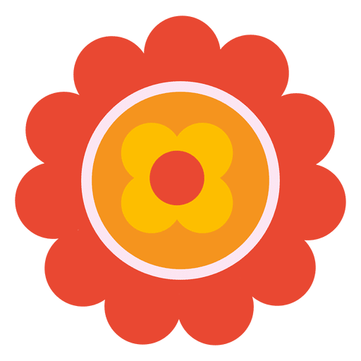 Orange flower png. Icon transparent svg vector