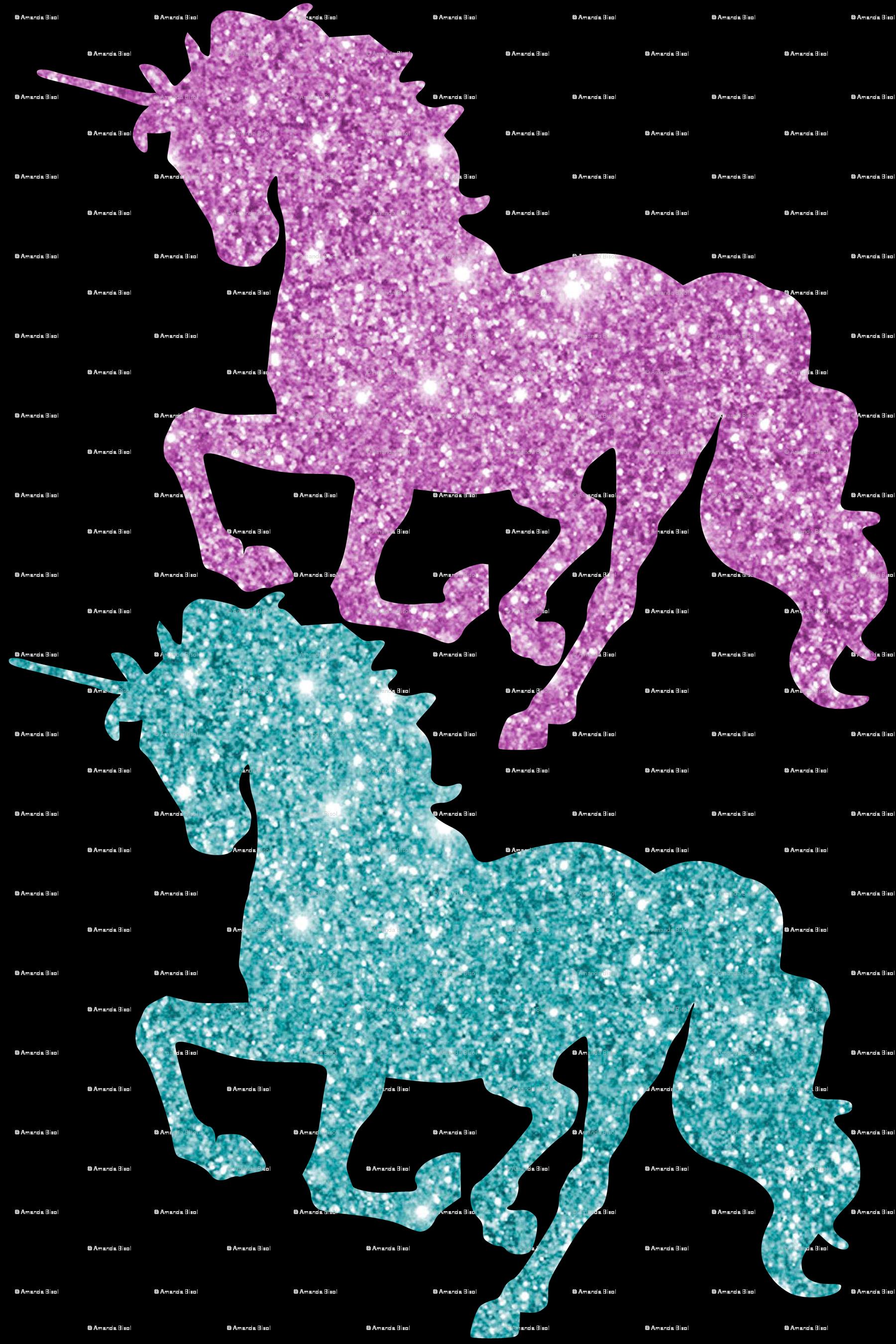 Horses clipart glitter. Unicorn wall sticker fabric