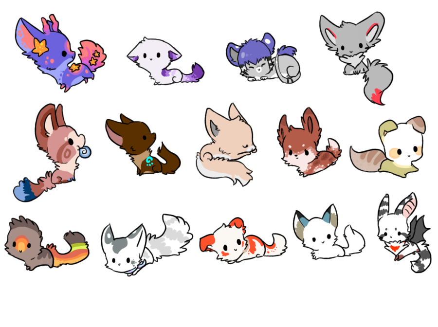 micro pack by. Orca clipart chibi