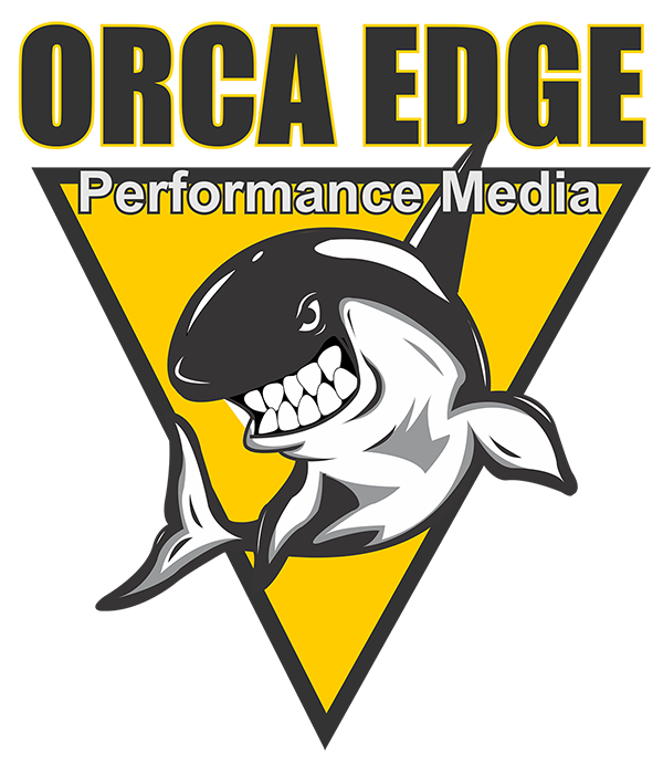 Orca clipart realistic. Blaze performance media logo
