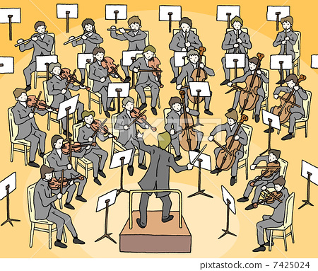 Clip art stock illustration. Cello clipart orchestra