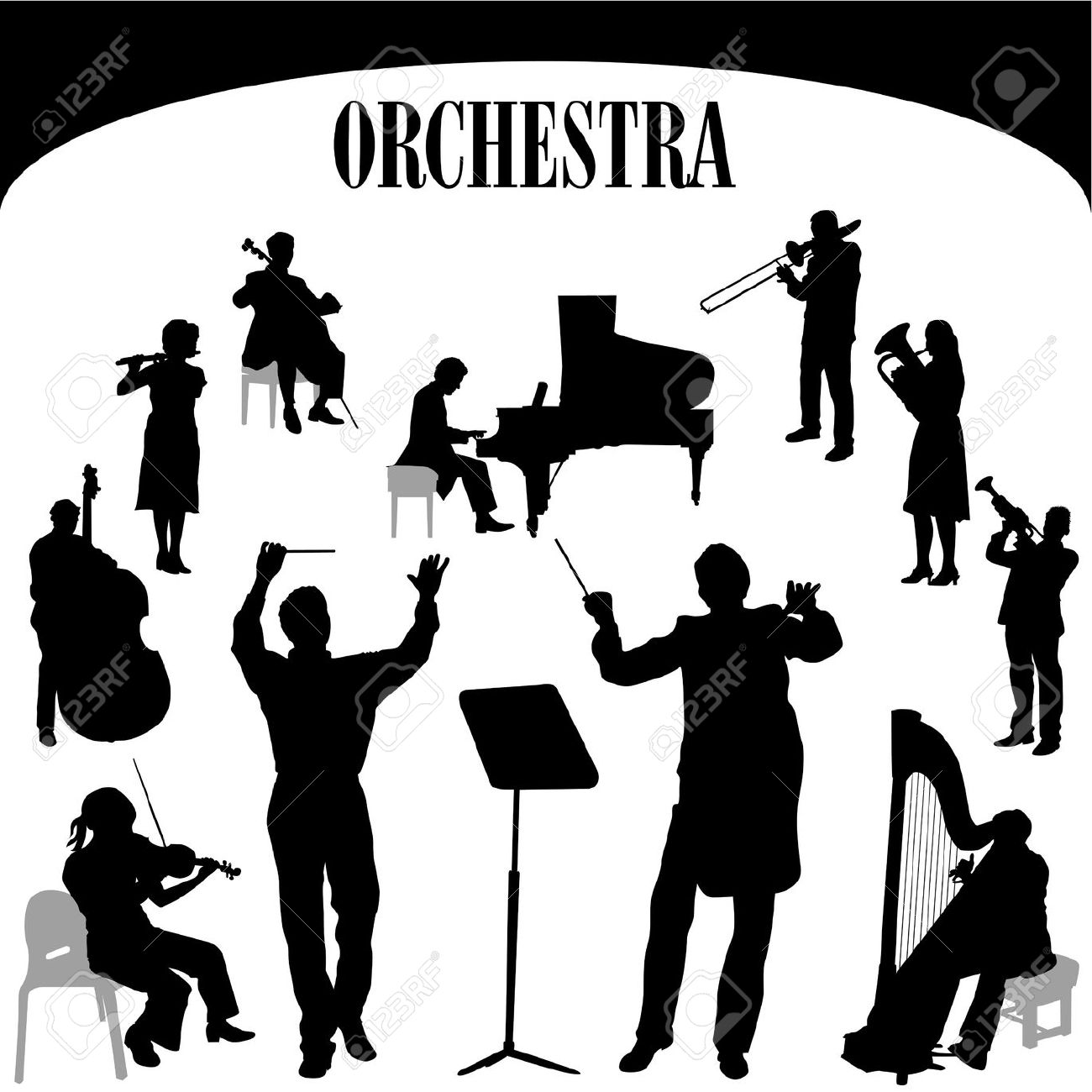 Player . Orchestra clipart