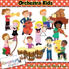 Animal music instrument musical. Orchestra clipart