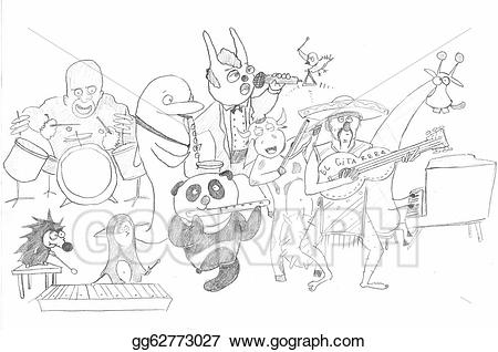 Stock illustration animal gg. Orchestra clipart