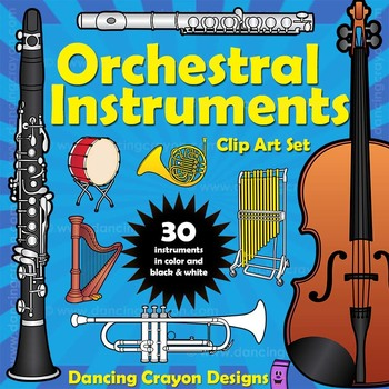 Orchestra clipart music classroom. Musical instruments clip art