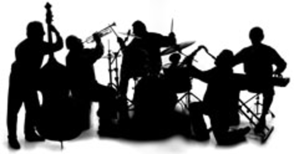 Orchestra clipart worship band. Free silhouette cliparts download