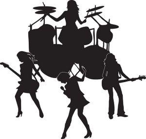 Rock clip art music. Orchestra clipart worship band