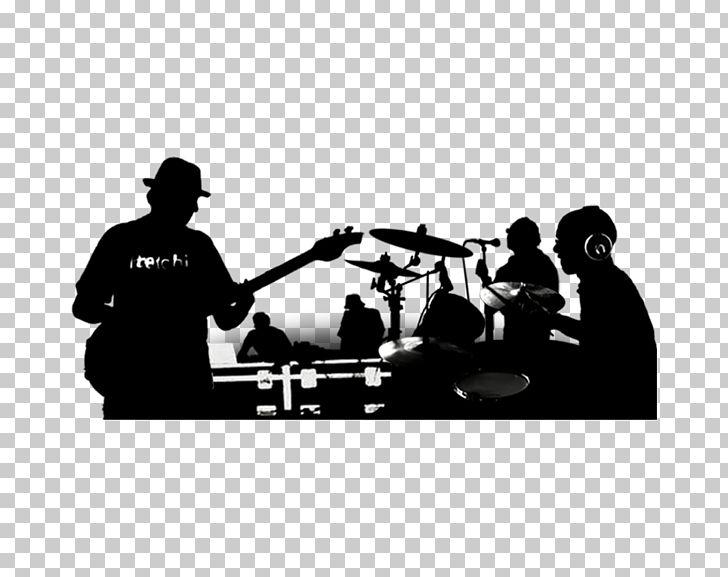 Rock musical ensemble silhouette. Orchestra clipart worship band