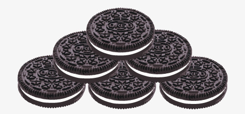 Oreo clipart. Black stacked laminated png