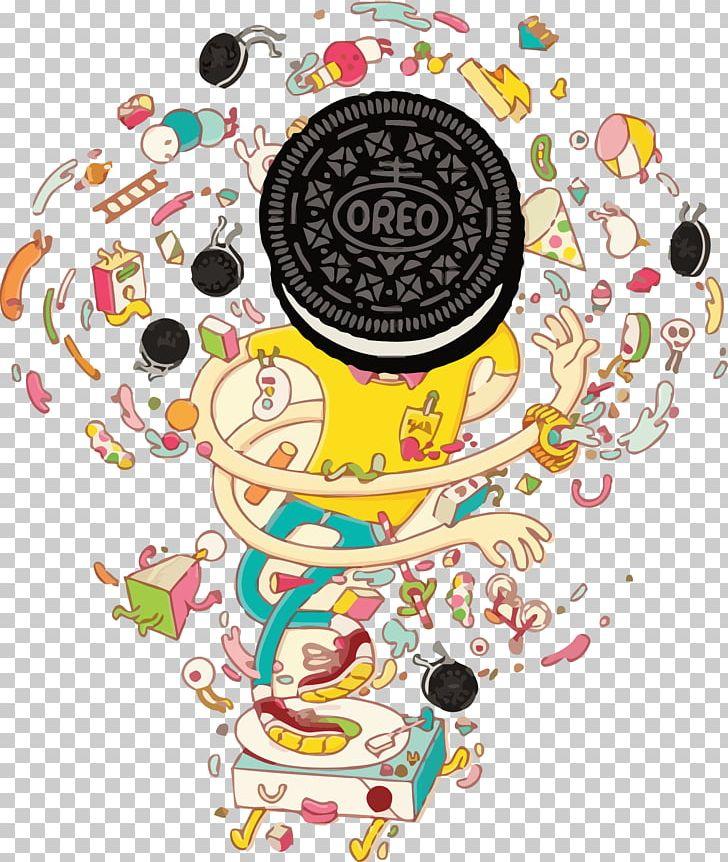 Advertising agency illustrator illustration. Oreo clipart advertisement