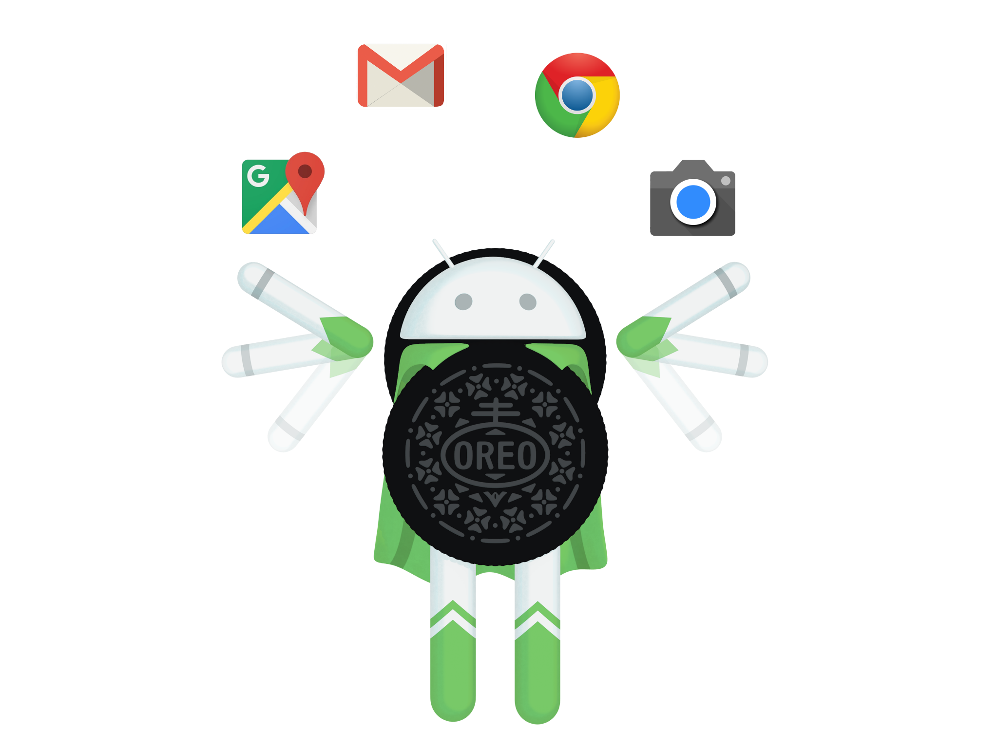 Android everything you need. Oreo clipart advertisement