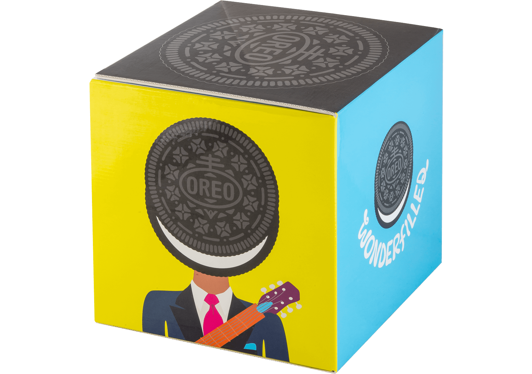 Fourcolor cube mailer featuring. Oreo clipart advertisement