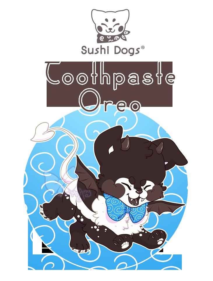 Closed toothpaste sushi dog. Oreo clipart artwork