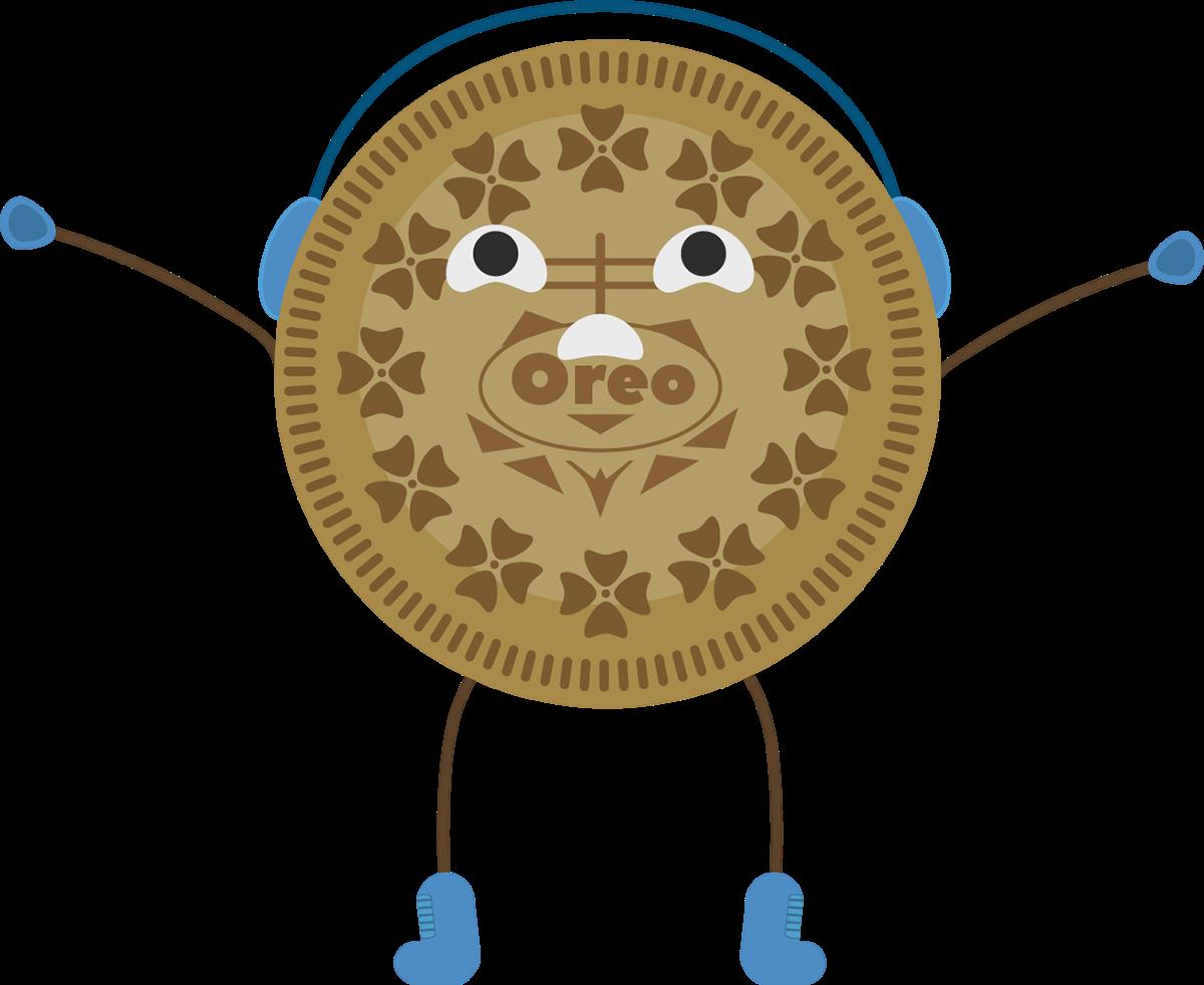 Oreo clipart character. Design on behance