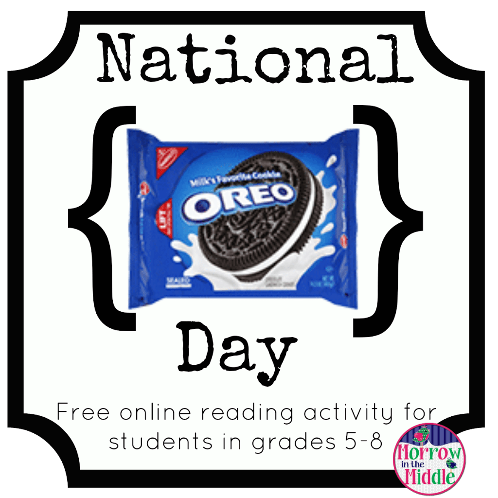 March national morrow in. Oreo clipart day