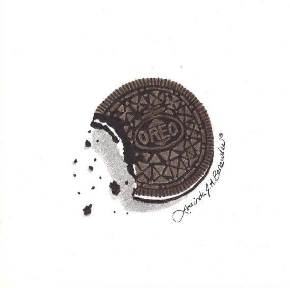 Drawing of cookie photo. Oreo clipart easy