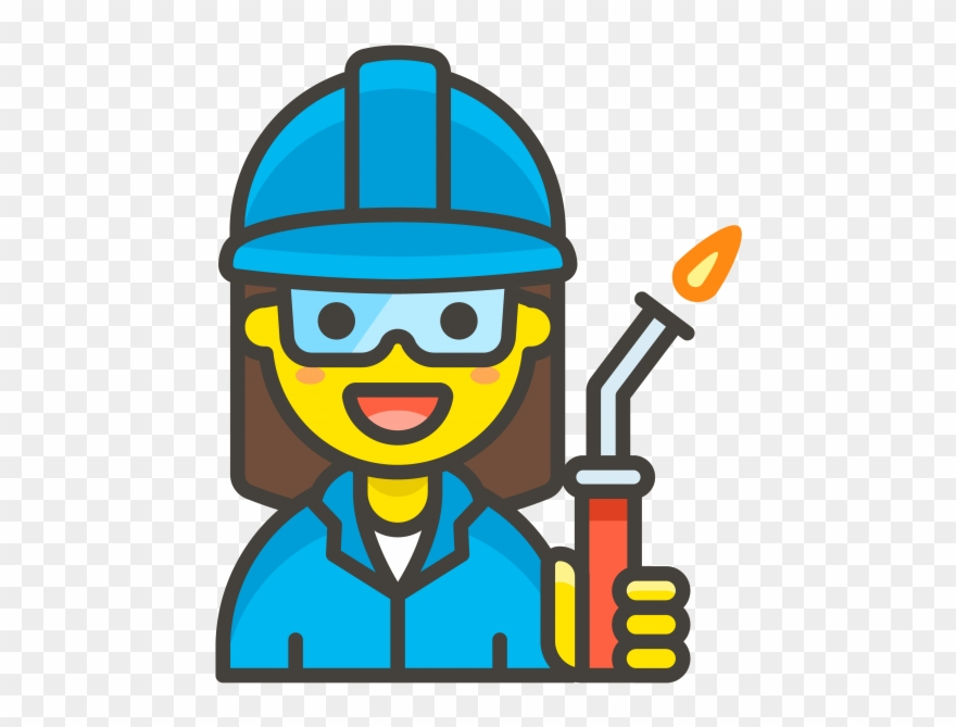 Woman worker emoji . Oreo clipart factory