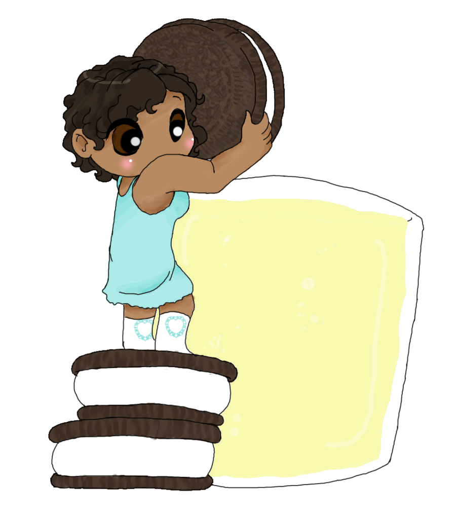 Oreo clipart illustration. Chibi sweets oreos by